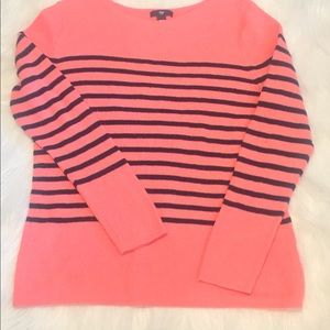 Orangish XL Gap Sweater with blue stripes